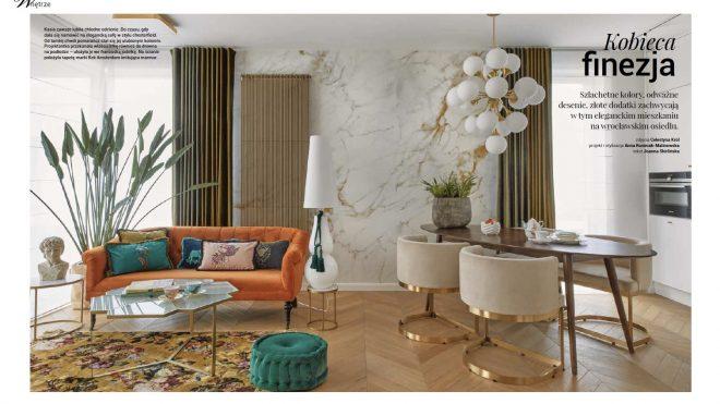 """Nasz ostatni projekt wrocławskiego apartamentu na okładce Magazynu """"Czas na Wnętrze"""""""